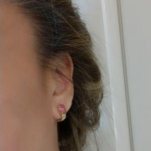 Jewelry - FOR LORA 14KT pink topaz earrings